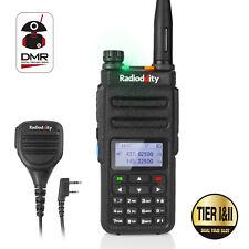 Radioddity GD-77 VHF UHF TierII DMR Hand-Funkgerät Walkie Talkie +Orig. Mikrofon