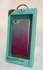 Kate Spade Hard Shell Case Snap Cover for iPhone 7 (Pink Ombre/Silver Glitter)