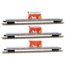 Micro-Trains 99301400 Ringling Bros Barnum Bailey 70' Flat Car 3-Pack N Scale
