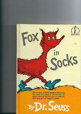 Beginner Books: Fox in Socks by Dr. Seuss (1965, Hardcover, Large Type)