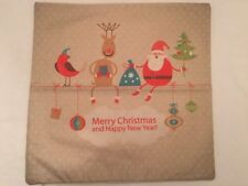 TOSS THROW PILLOW / COVER Merry Christmas & Happy New Year Home Decor