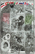 Czech Republic 2014 MNH First World War Victims 2v M/S WWI World War I Stamps