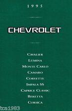 1995 CHEVY Brochure:CAMARO,BERETTA,CORVETTE,CAPRICE,MONTE CARLO,LUMINA,IMPALA SS