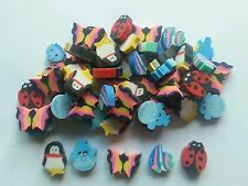 25 Mini Animal Erasers ~ Novelty Vending Toys Party Favours Lucky Dips