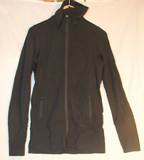 Lululemon High Collar Jacket Black Yoga 2118sh size 8