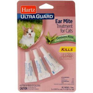 Hartz UltraGuard Cat Ear Mite Treatment, 0.066 fl oz, 3 Ct