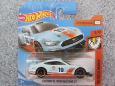 "Hot Wheels 2019 #180/250 CUSTOM '18 Ford MUSTANG GT  blue ""GULF"" New Casting @J"