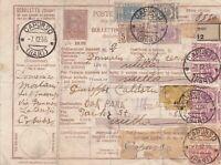 Italy Regno Bollettino di spedizione con pacchi postali misti e fuori corso