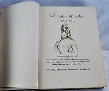 NANA by Emile Zola. Illustrated. Limited Editions. (BI#MK/BSM)