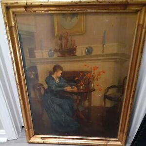 Marguerite S. Pearson (American,1898-1978) Original Oil Painting Signed