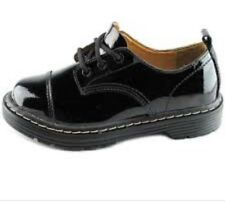 SKECHERS Women's 47947 Black Leather Oxford Shoes Size 9.5