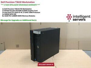 Dell T3610 Workstation  Intel E5-1620 V2 3.70GHz  128GB  500GB SSD Quadro NVS300