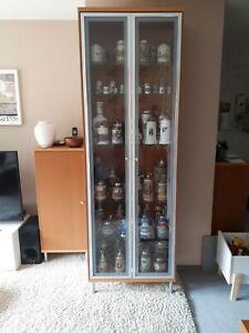 Vitrine, Schrankvitrine, Holz, Glas
