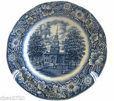 LIBERTY BLUE STAFFORDSHIRE IRONSTONE PLATE-INDEPENDENCE HALL, PHILADELPHIA, PENN