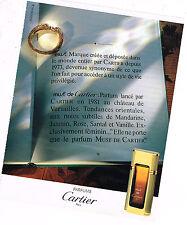 PUBLICITE ADVERTISING 054  1989  CARTIER    LE NOUVEAU PARFUM  LES MUST