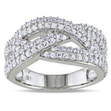 WHITE SAPPHIRE ENGAGEMENT WEDDING  ANNIVERSARY BAND RING SZ 7