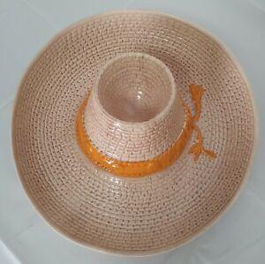 Whittier Pottery VTG Ceramic Sombrero Hat Chip and Dip Bowl