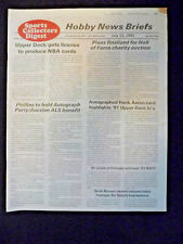 SPORTS COLLECTORS DIGEST HOBBY NEWS BRIEFS JULY 12, 1991