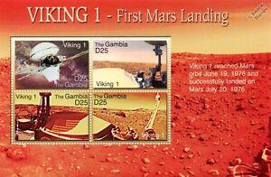 NASA VIKING 1 Mars Lander Spacecraft Exploration Space Stamp Sheet (2006 Gambia)
