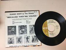 ROCK 45 RPM EP RECORD- DUANE EDDY - JAMIE JEP-304