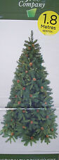 6ft 1.8m Kirkcaldy Downswept Hinged Green Artificial Christmas Tree w Pine Cones