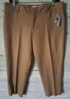Gap Women's Slim Cropped Pants Stretch Size 8 Tan New NWT