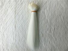 1/3 1/4 1/6  BJD/SD Doll Wig High Temperature Silk Hair Piece Dollfie white 2#