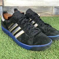 UK10 Adidas Forest Hills Black Suede Trainers - Football Casuals - Restoration