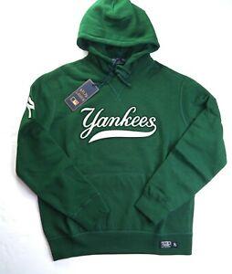 POLO RALPH LAUREN Men's MLB Collection Yankee NY Fleece Pullover Hoodie sz L