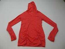 ZELLA Women's Size S Running Stretch Knit Coral Pink V-Neck Hoodie Pullover