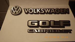 Schriftzug, Emblem, Abzeichen VW Golf I Cabrio auf Heckklappe