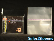 Double Wide CD Resealable Old style 2CD Jewel Case TOP Japan SelectSleeves 100pc