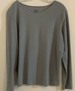 Women's Columbia Sportswear Ribbed Pullover large Blue Top