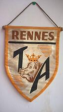 Vintage Fanion TA Rennes La Tour d'Auvergne de Rennes Football Foot 29cm x 21cm