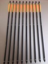 """10 Alubolzen 20"""" schwarz 2219 Feder 4"""" Armbrustpfeil Armbrustbolzen Ek Archery"""