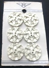6 Vintage Origami 2.2cm  Buttons on Original Display Card