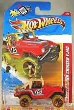 2012 Hot Wheels  #186 Thrill Racers-Swamp Rally 1/5 TOYOTA LAND CRUISER FJ40 Red