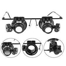 20X Useful Magnifier Magnifying LED Eye Glass Loupe Jeweler Watch Repair Kit UK