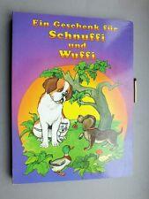Bilderbuch Ein Geschenk für Schnuffi und Wuffi Dackel Bernhardiner Hund Katze