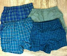 "Hanes Men's 4 Tagless Woven Boxers Shorts Comfort Blend Size XL 40-42"", New"