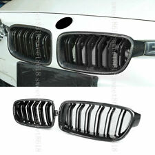 Real Carbon Fiber Double Pole Kidney Grille Trim For BMW 3 Series F30 F31 13-18