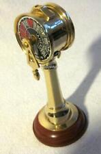 Massiver Maschinentelegraph aus Messing/Holz 65 cm