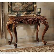 Incroyable HAND CARVED SOLID MAHOGANY GRIFFINS GREENMAN Antique Replica CONSOLE Foyer  TABLE