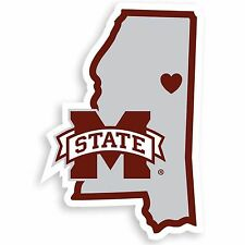 NCAA Mississippi State Bulldogs Home State Auto Car Window Vinyl Decal Sticker