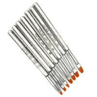 US 7Pcs Acrylic Nail Art Pen Tips UV Builder Gel Painting Brush Manicure Set Hot