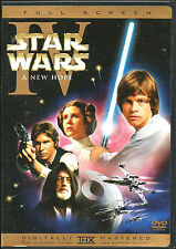 STAR WARS IV A NEW HOPE DVD (1) DISC REMASTERED VERSION FULL SCREEN PAN AND SCAN