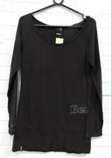 Ladies Bench Black Long Sleeved Tunic Top Size S Charity Sale #R28-CE