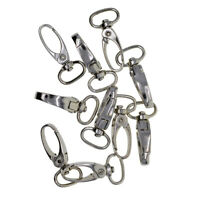 10 Pcs D Swivel Trigger Clips Hooks Lobster Claw Clasps for Jewelry Findings