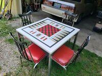 VTG Mid Century modern game table / dinette set memphis dinette INC. RARE