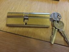 Yale Euro Profile Cylinder Replacement Lock  Size 45/10/35 3 Keys - Brass - NEW
